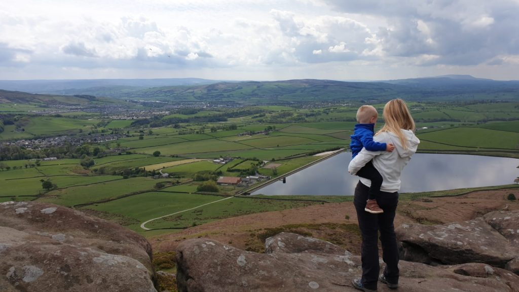 View from the top of Embsay Crag