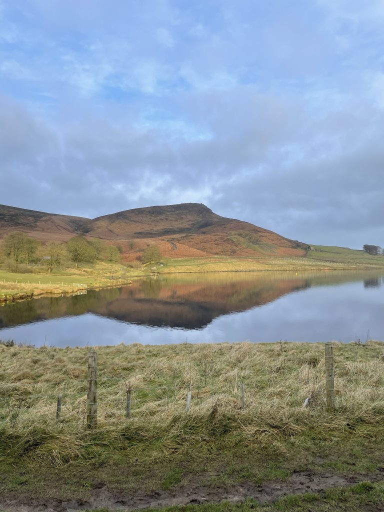Embsay reservoir and crag