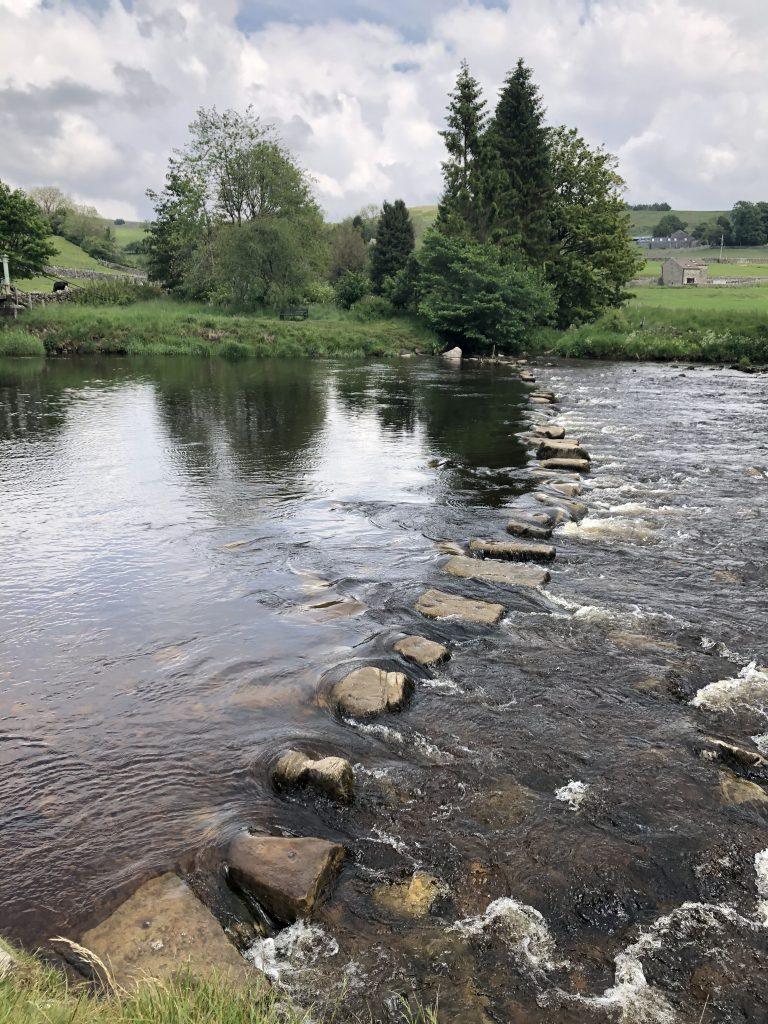 Stepping stones at Hebden
