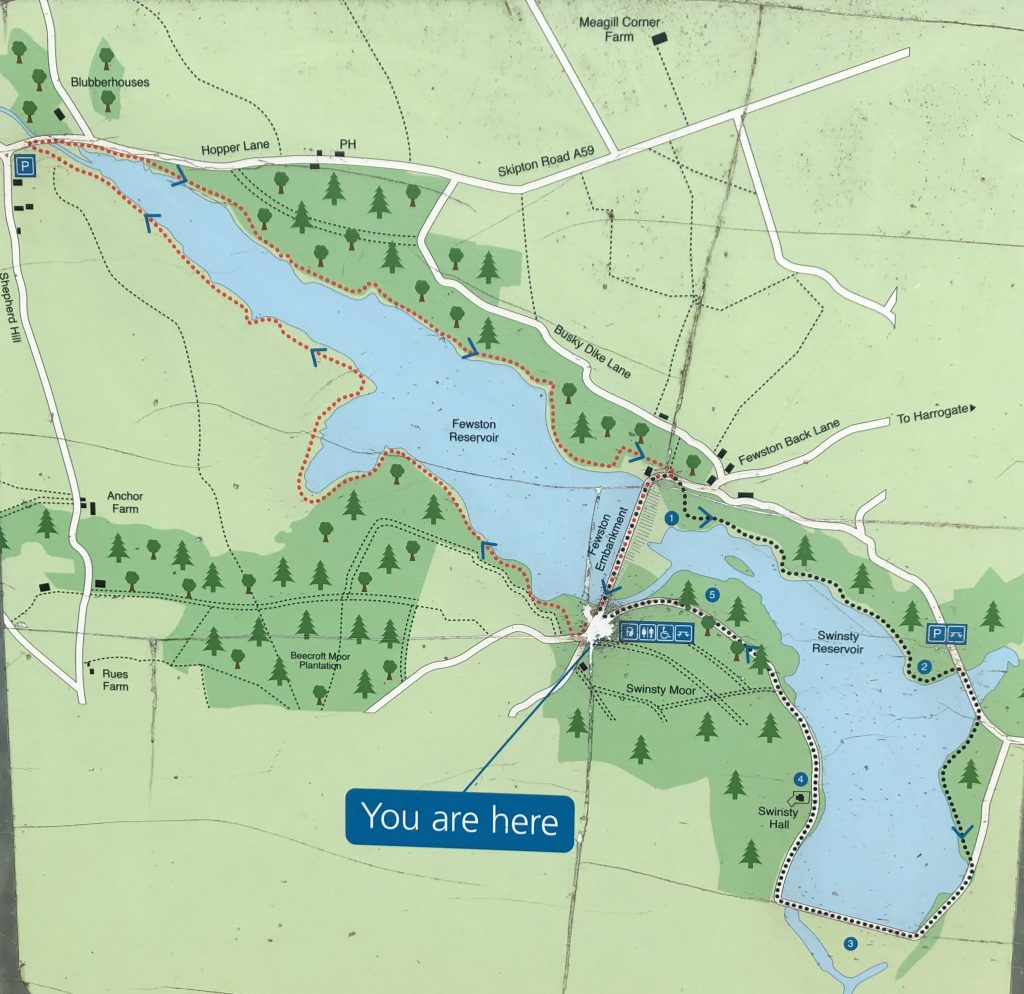pram friendly reservoir walks map