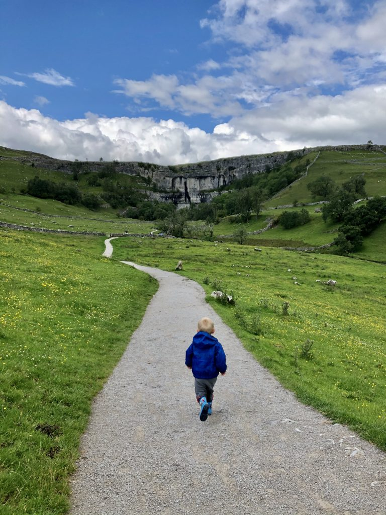 The approach to Malham Cove