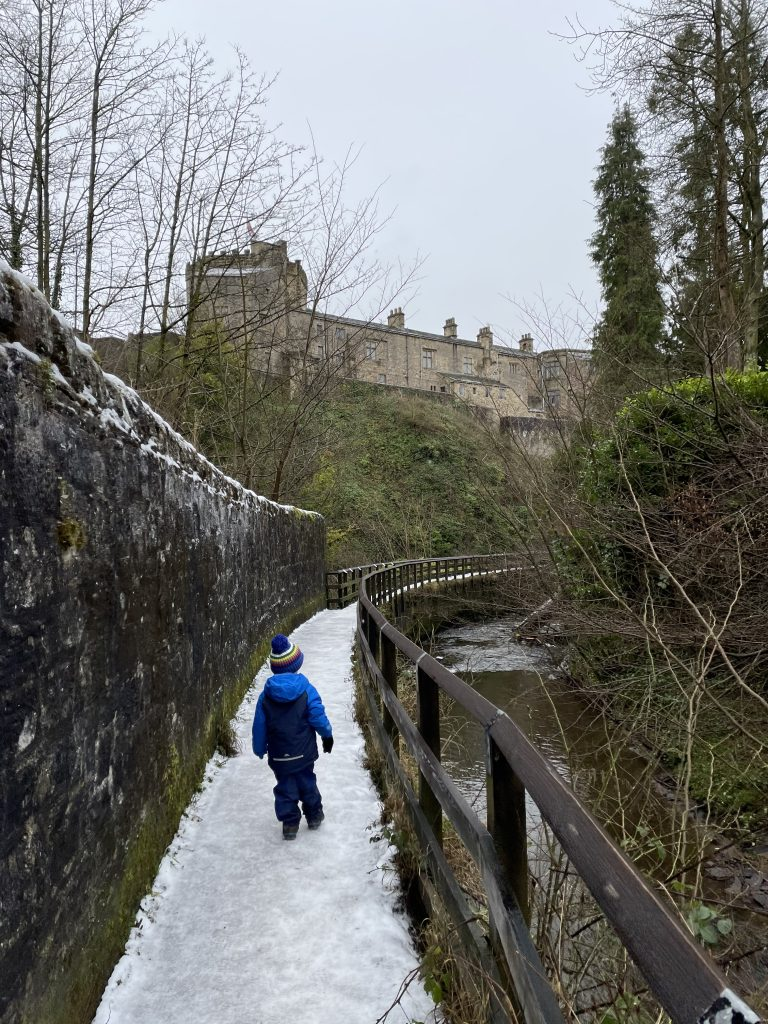 The route up to skipton woods behind the castle