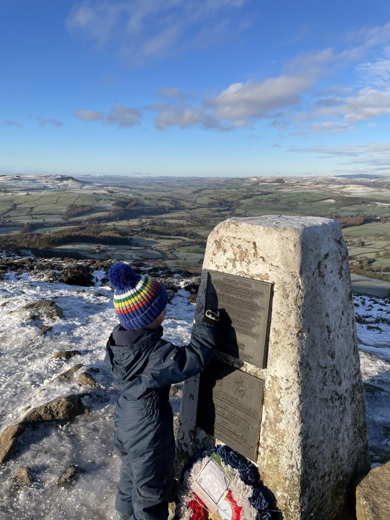 Trig point on Beamsley Beacon