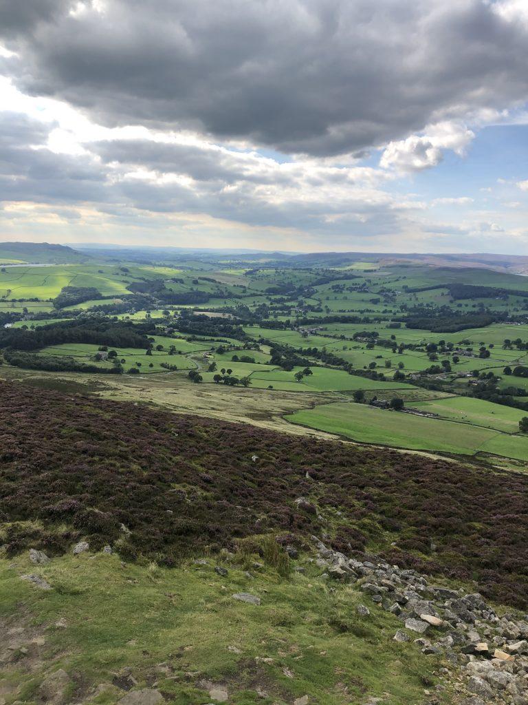 views over Bolton Abbey