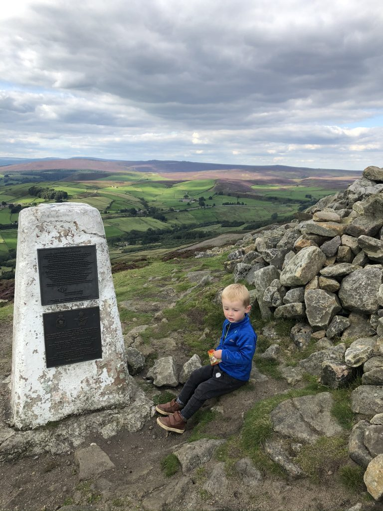 Trig point and snacks