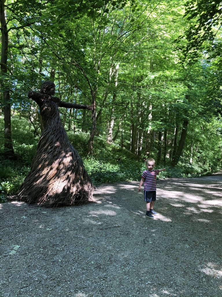 the wicker lady in the woods