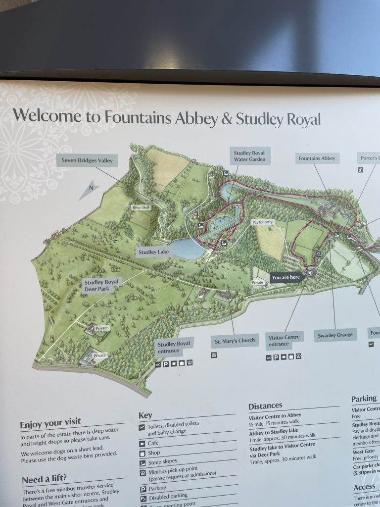 fountains abbey map