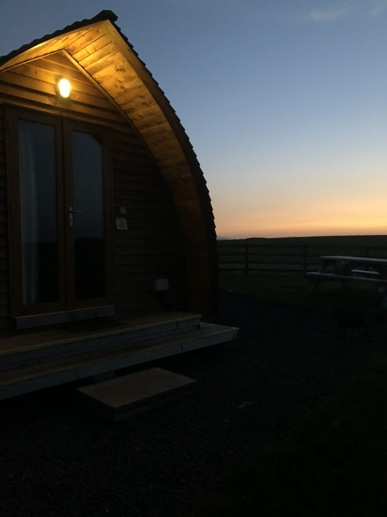 sunset outside of the wigwam