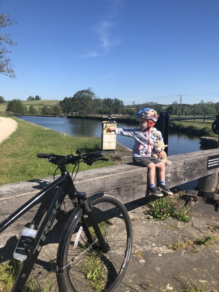 little man on the lock at Gargrave