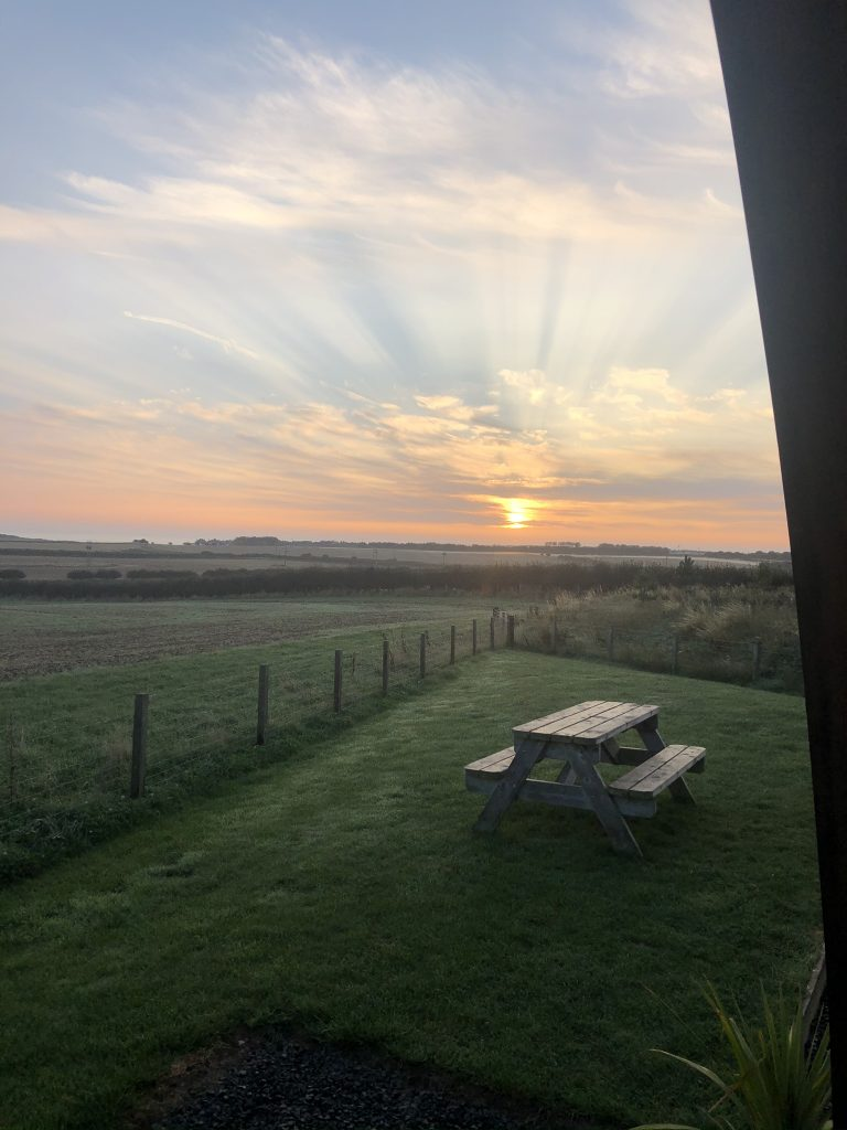 sunrise from the door of the wigwam