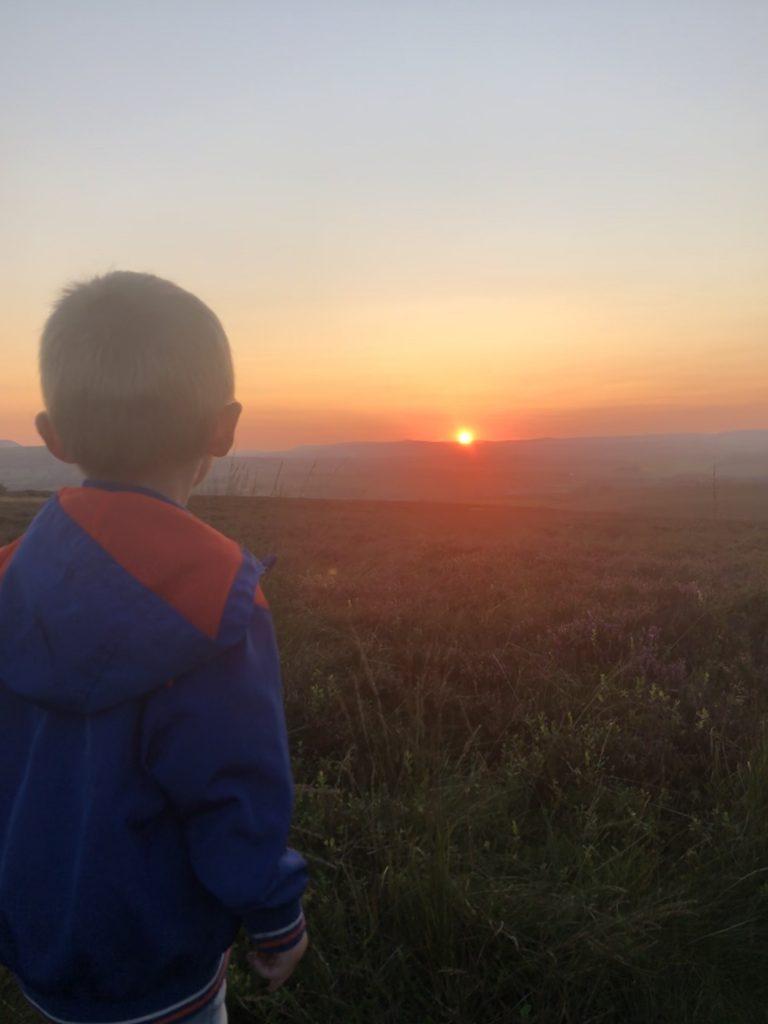sunset from carleton moor