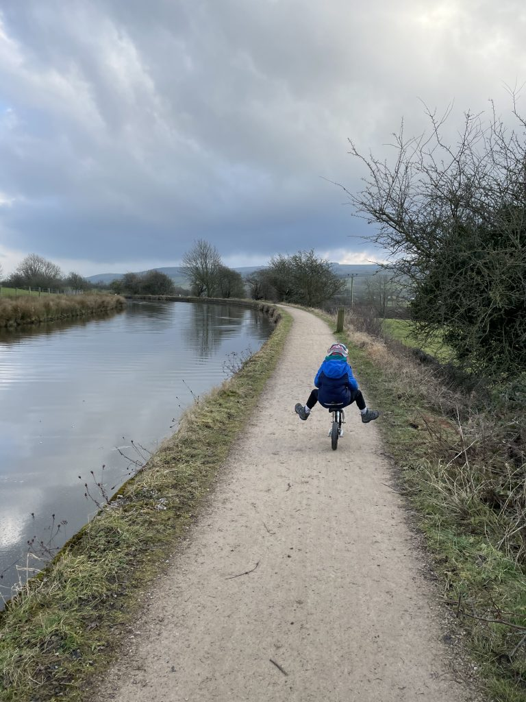 canal towpath perfect for balance bikes