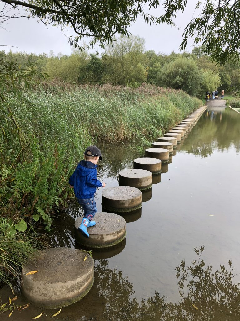 stepping stones at druridge bay country park. we love this northumberland park
