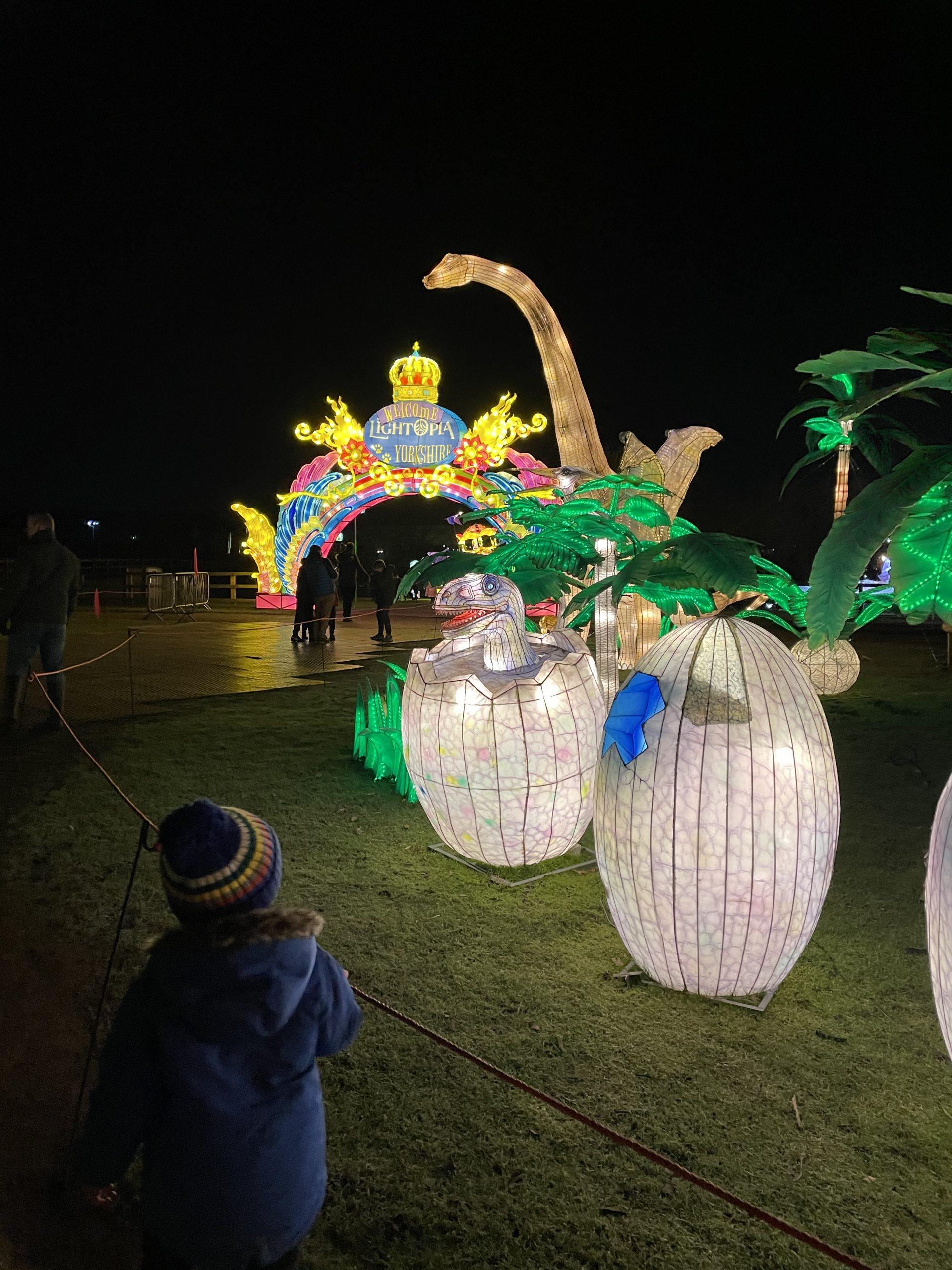 Lightopia event at the Wildlife Park