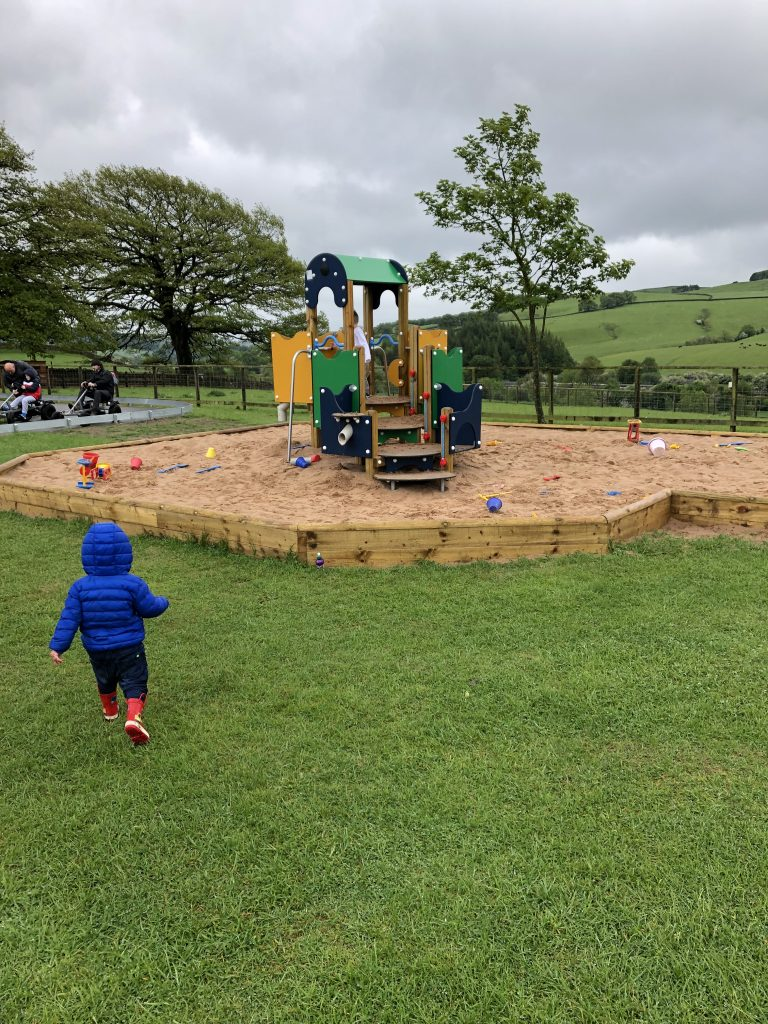 outdoor sand pit at hesketh
