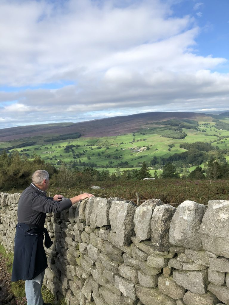 Taking in the views over wWharfedale