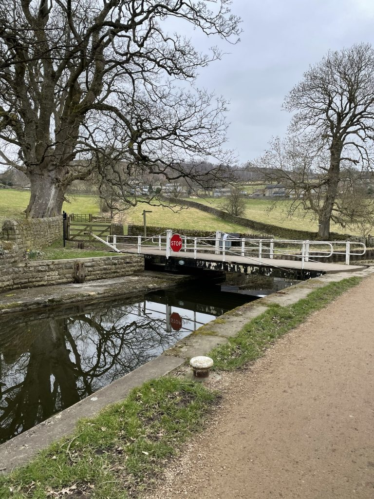 Swing bridge over the canal