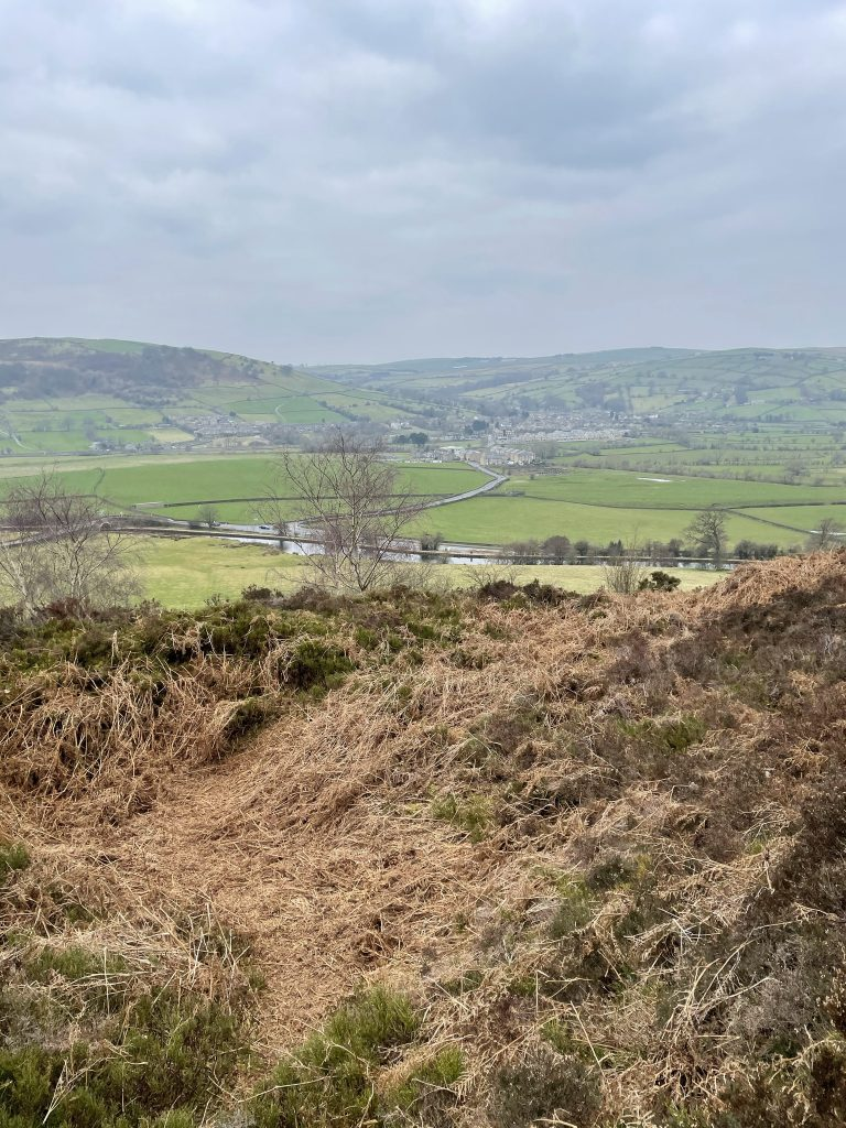 View from Farnhill moor over Connonley