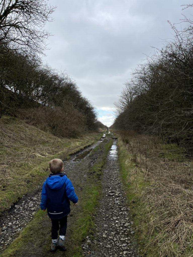 disused railway line path around Broughton hall Estate