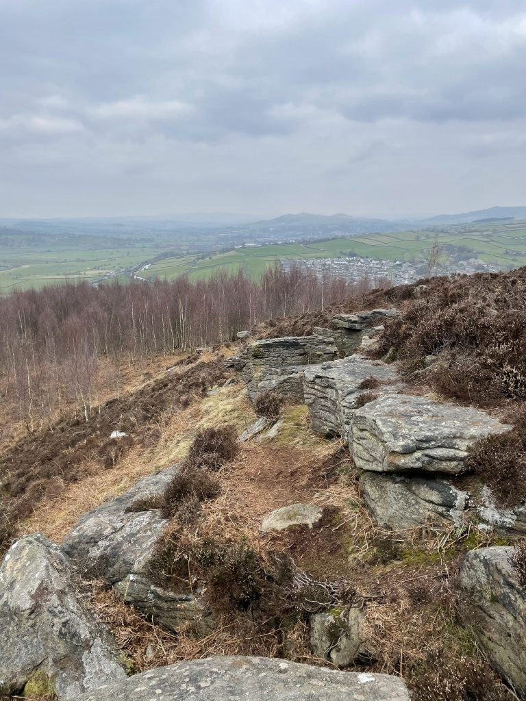 View from Farnhill moor over Bradley