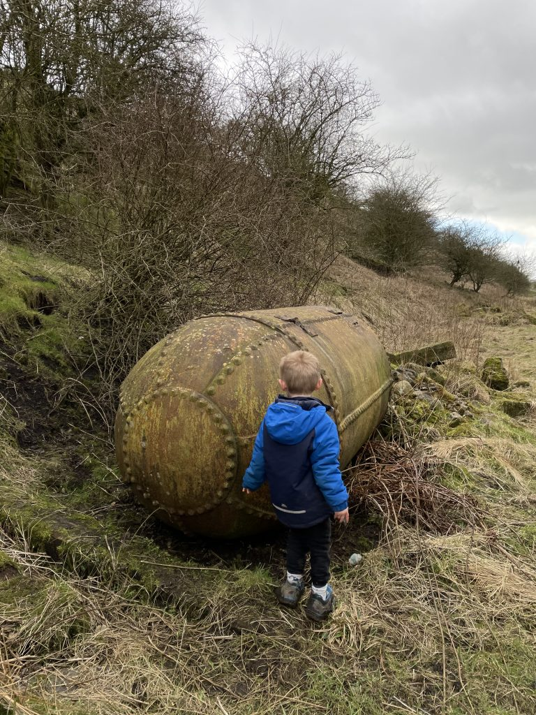 old artefacts on the disused railway line