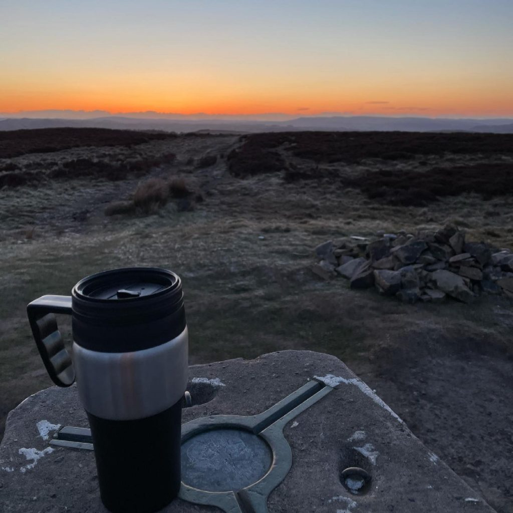 my obsession with trig points starts at sunrise!