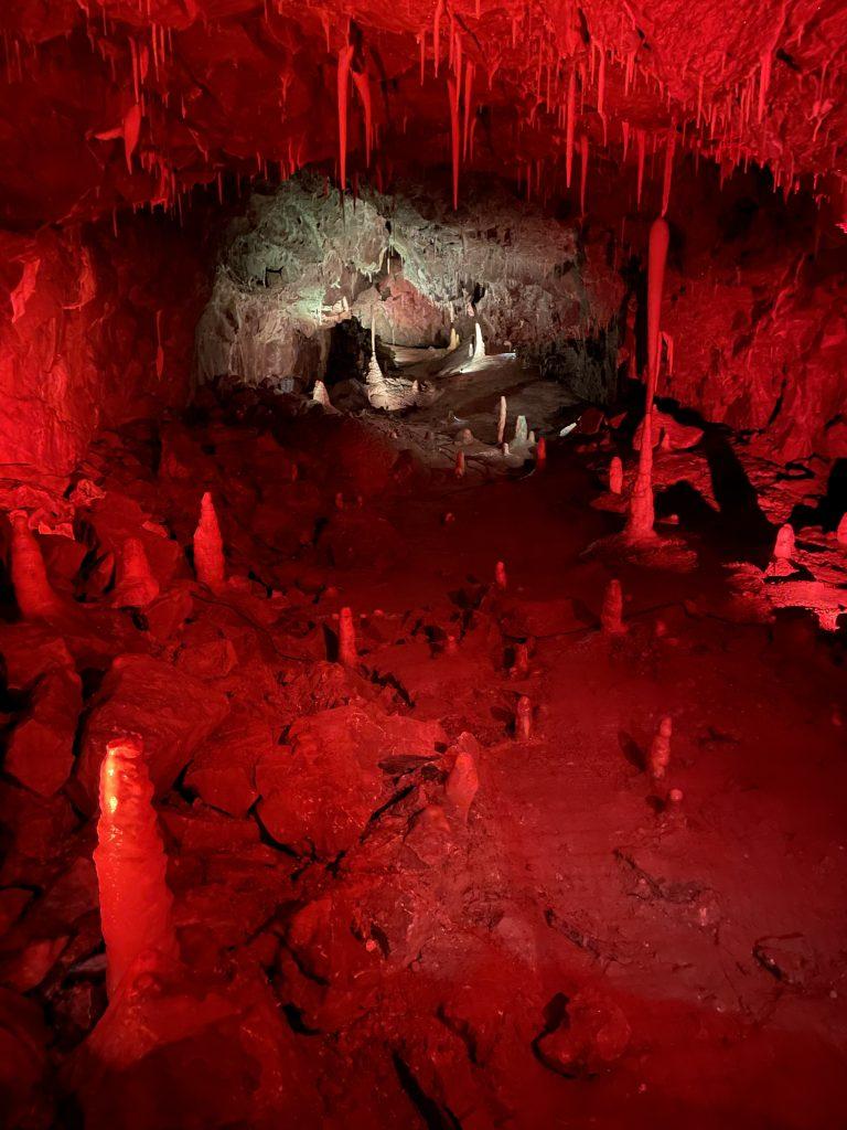 stalagmites at stump cross caverns