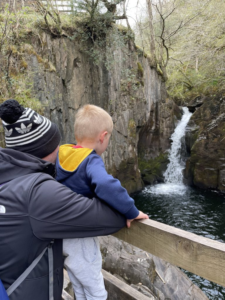 ingleton waterfalls with daddy