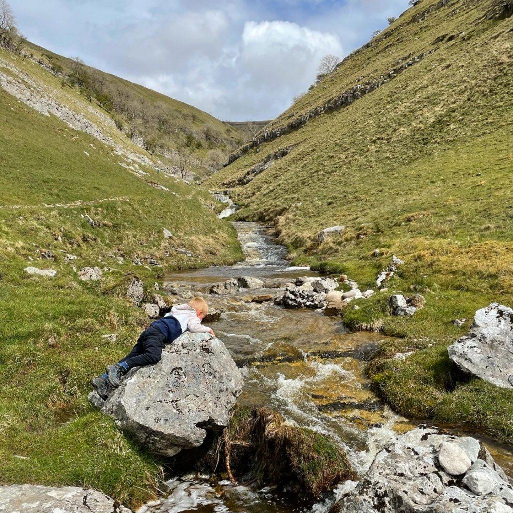 soaking up buckden beck waterfalls