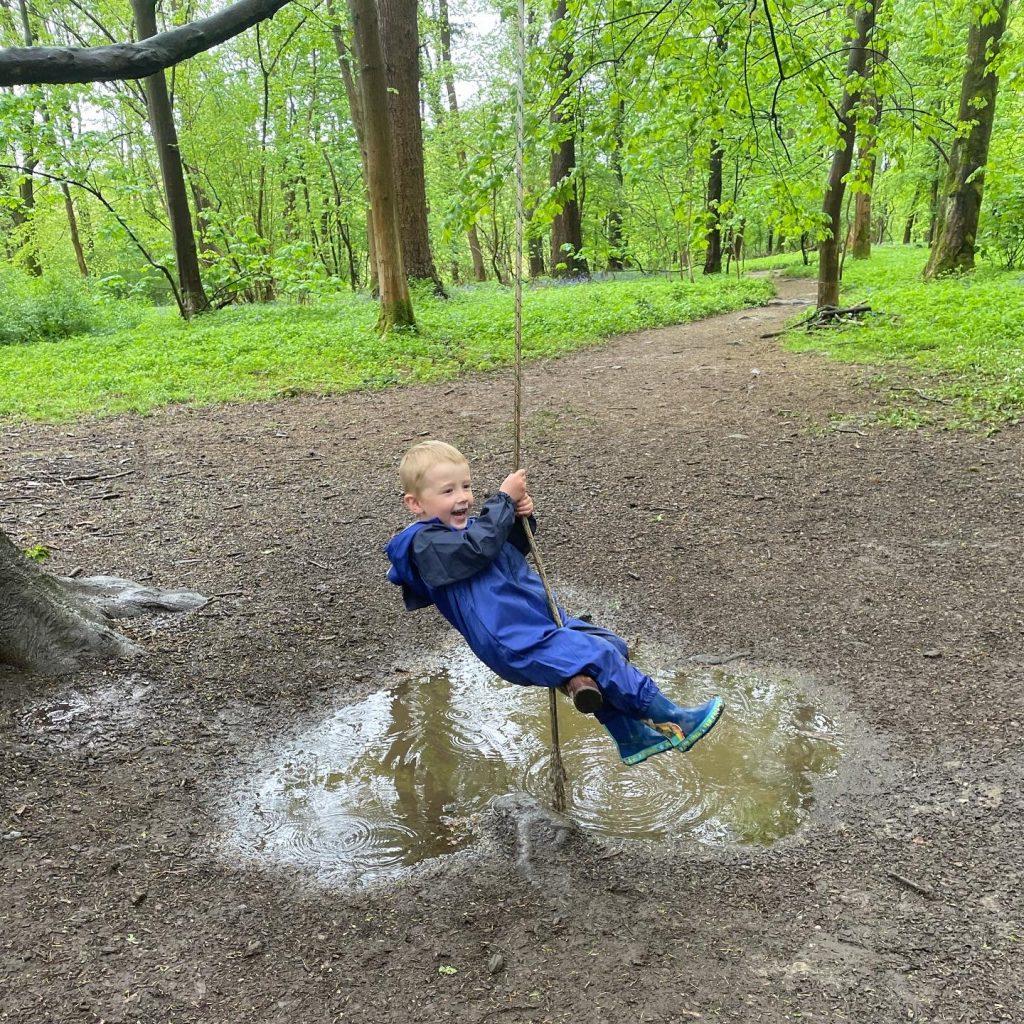 wild trail rope swing