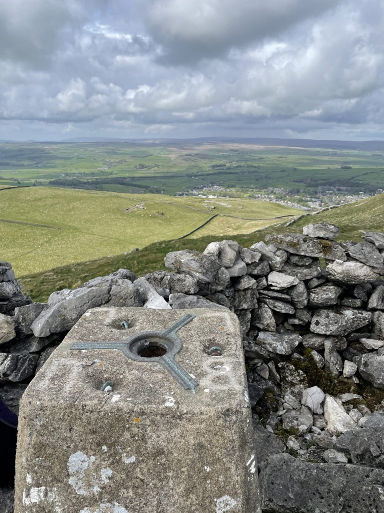 trig point views over settle