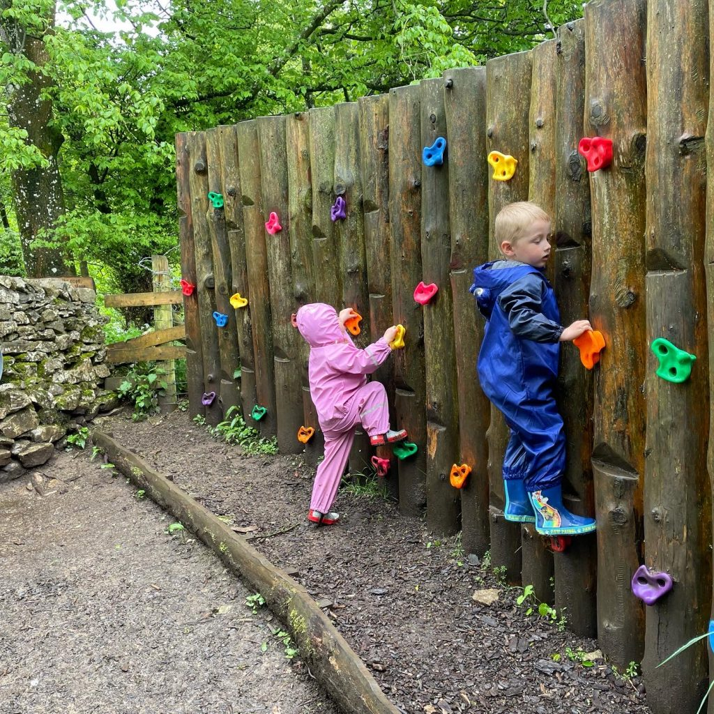 climbing wall at sizergh castle