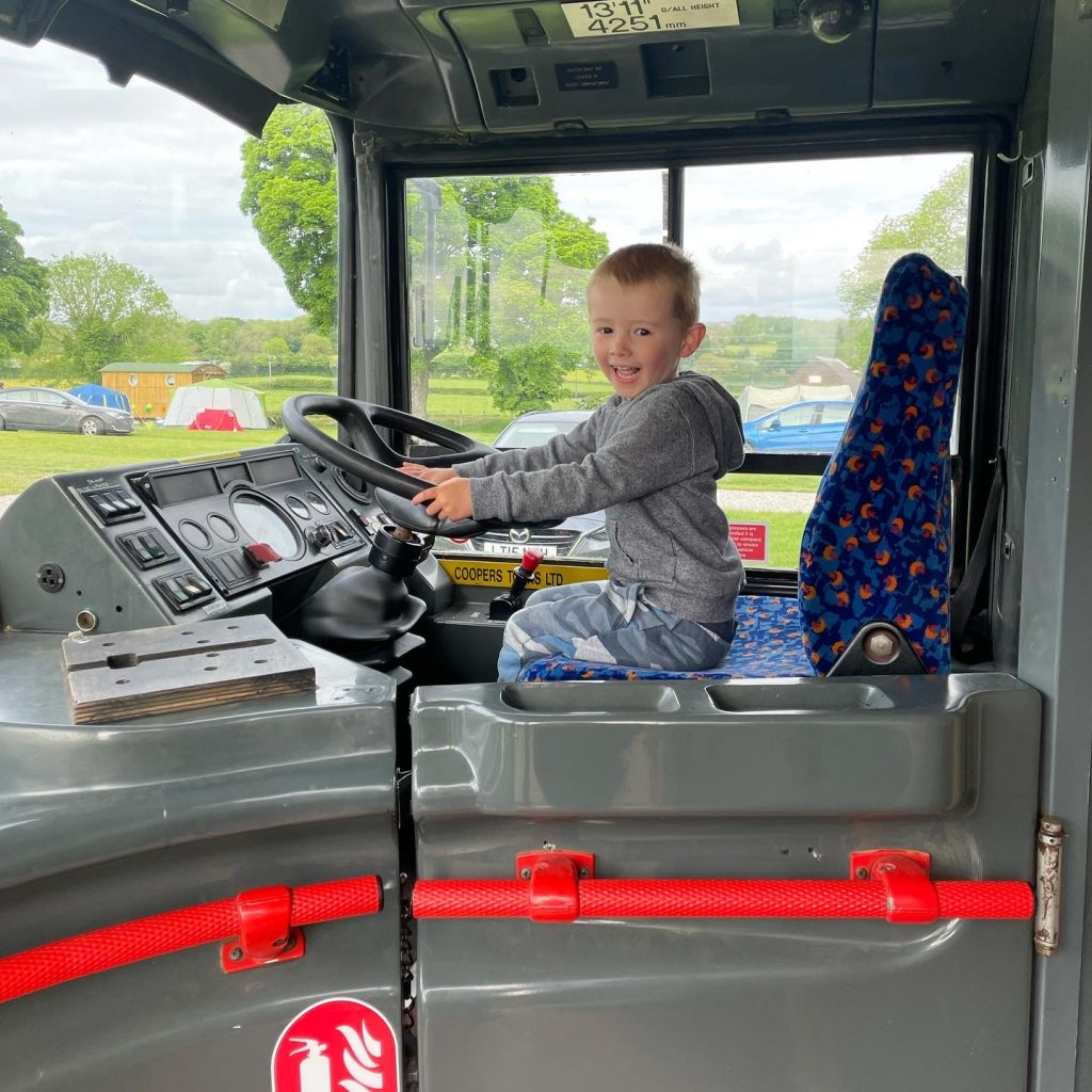 driving the double decker bus